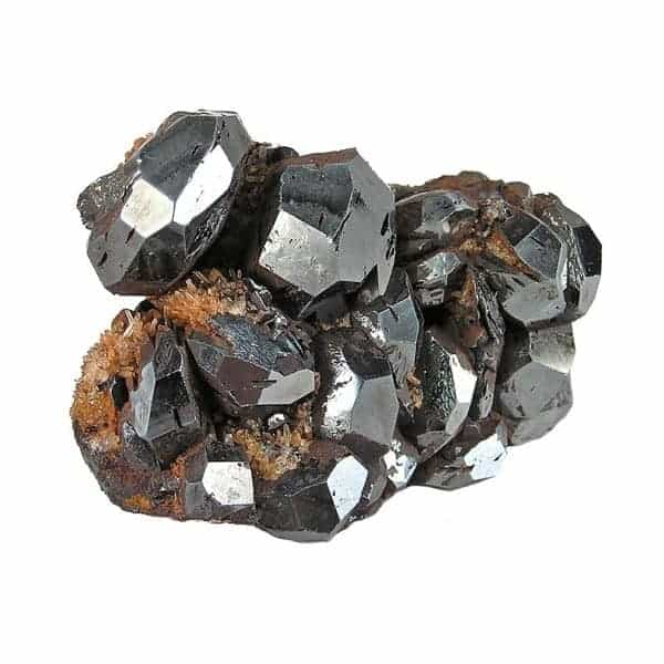 Black hematite crystal gemstone