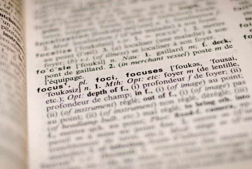 Dictionary with psychic definitions