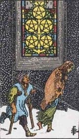 The Five of Pentacles Tarot Card Meanings - A Little Spark