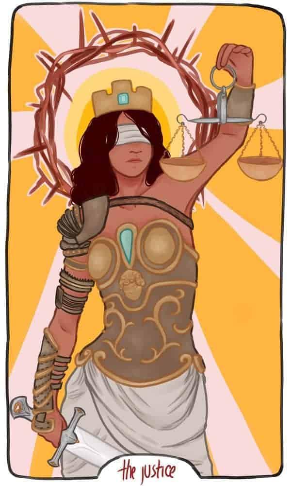 justice tarot love