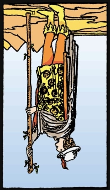 page of wands reversed