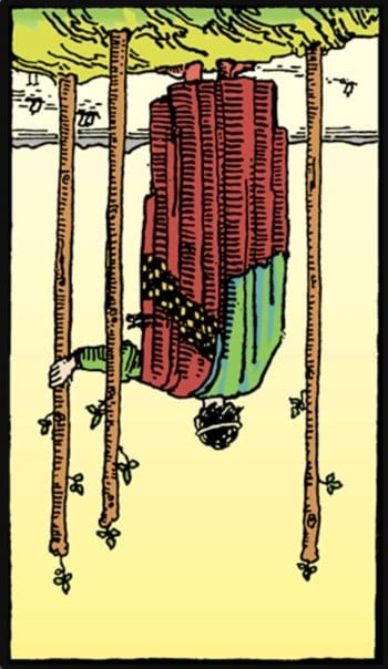 reversed three of wands