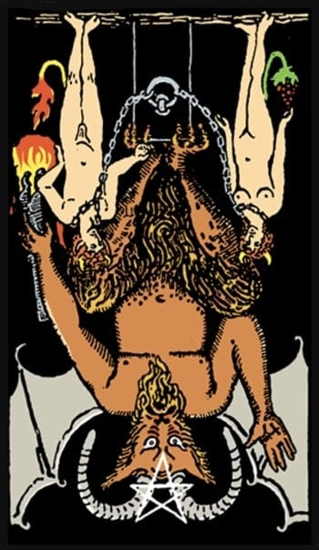 reversed devil tarot card