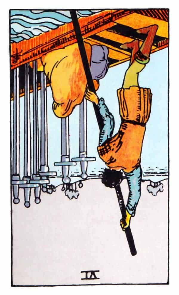 six of swords reversed