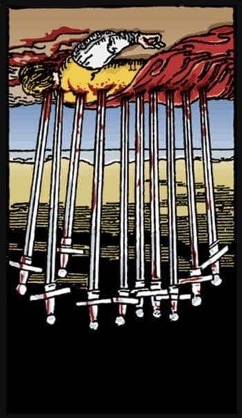 ten of swords reversed