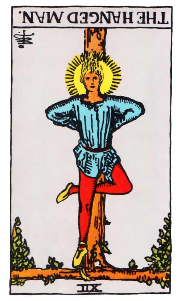 the hanged man tarot card reversed