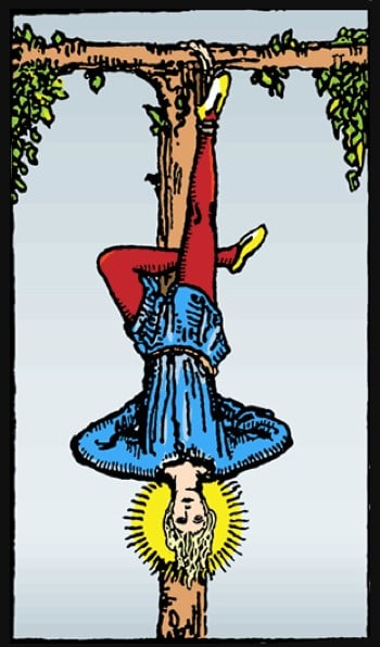 the hanged man tarot upright