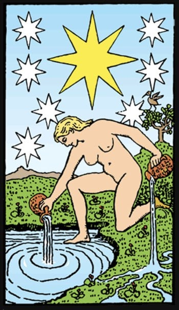 the star tarot card upright