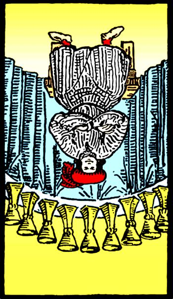nine of cups reversed