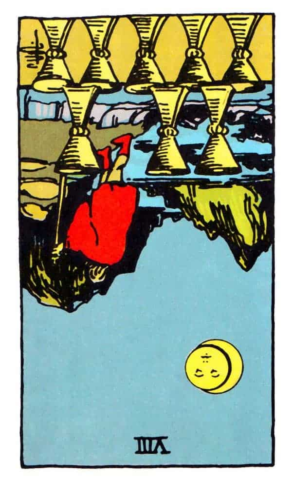 eight of cups reversed