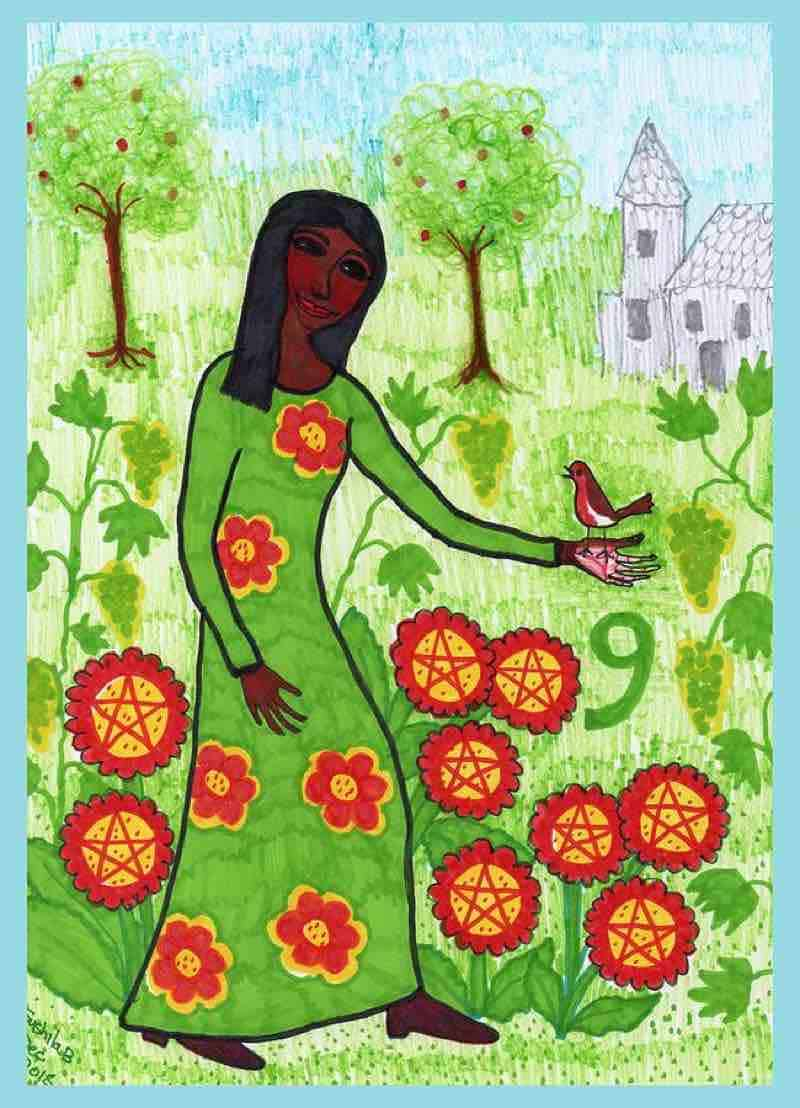 nine of pentacles love meaning
