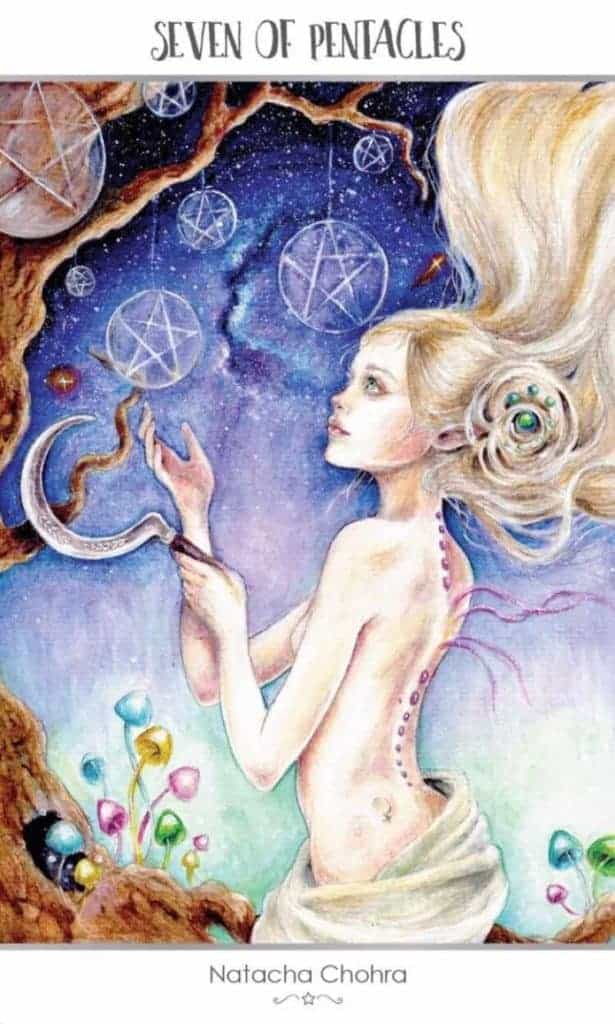 seven of pentacles tarot love