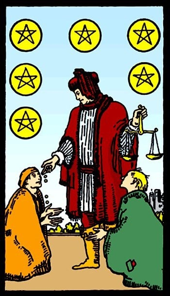 Six Of Pentacles Tarot Card Meaning Love Health Money More This is wonderfully good, and serveth excellently to excite and cause heavy rains, if it be engraved upon a. six of pentacles tarot card meaning