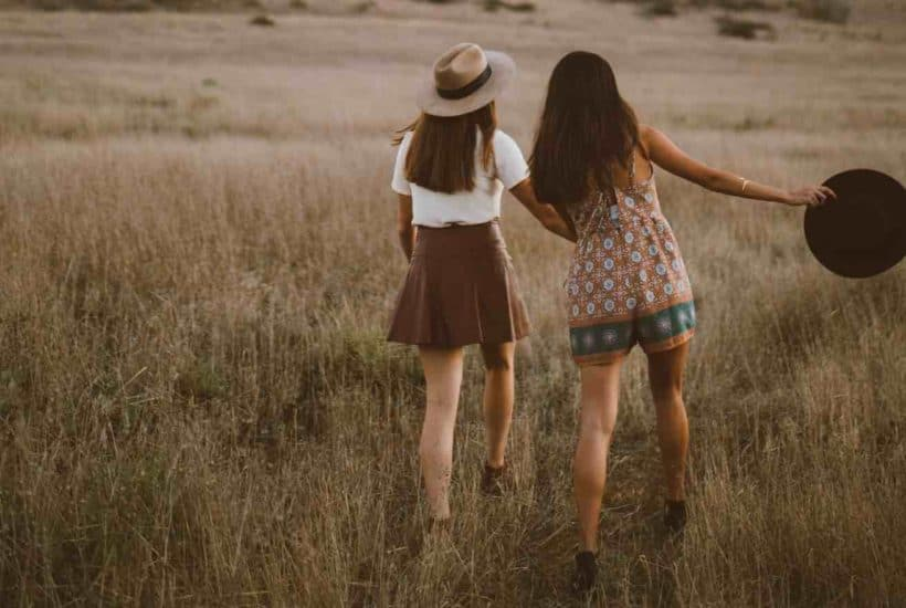 two empath girls in nature