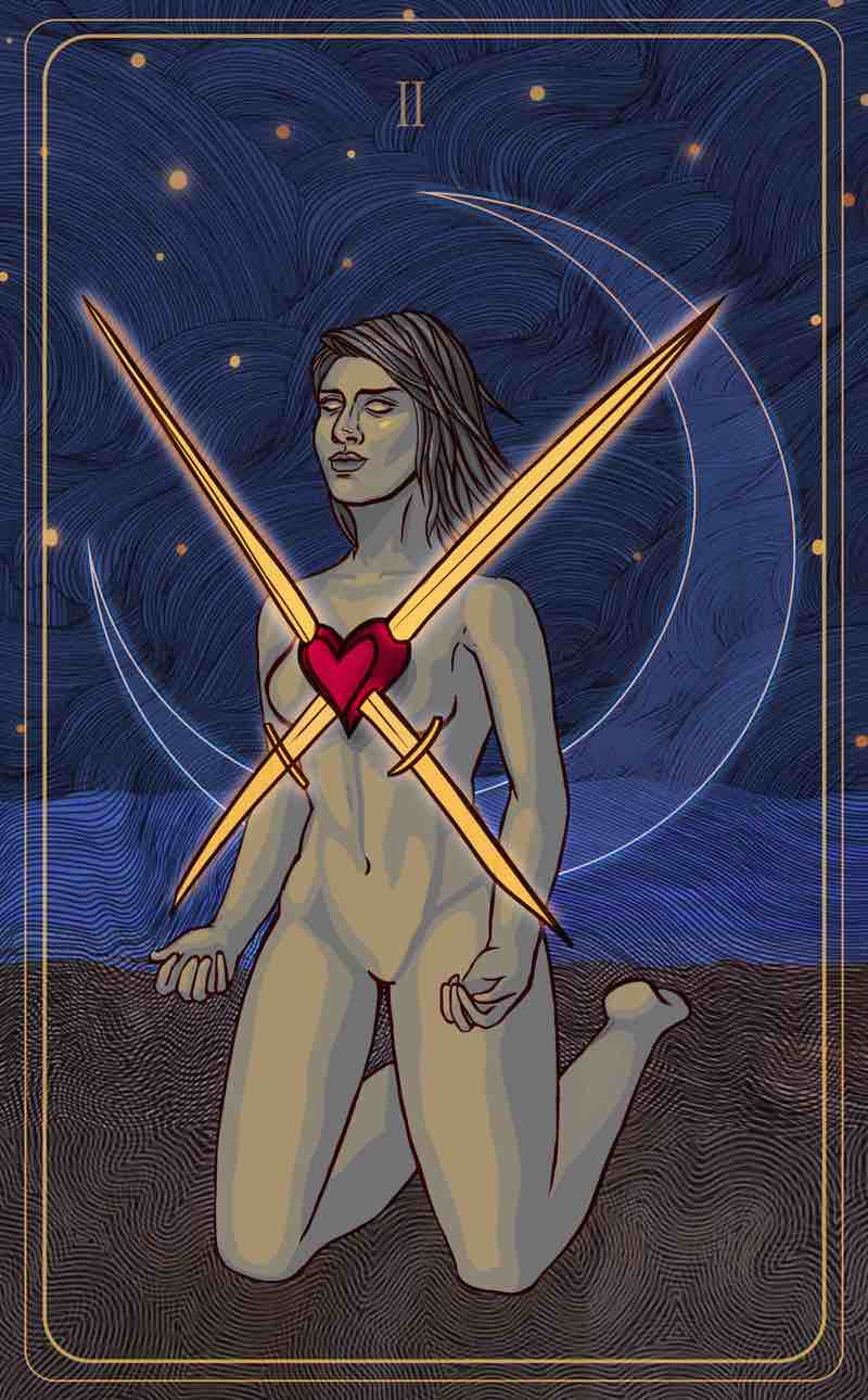 two of swords tarot meaning