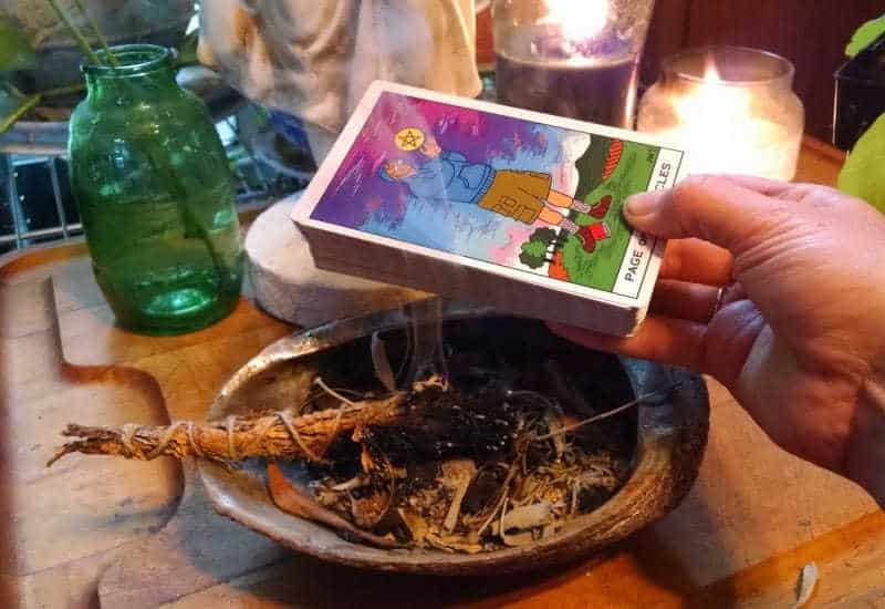 cleaning your tarot cards