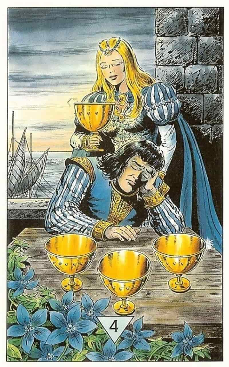 four of cups advice