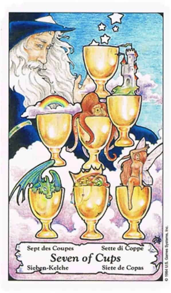 seven of cups yes or no