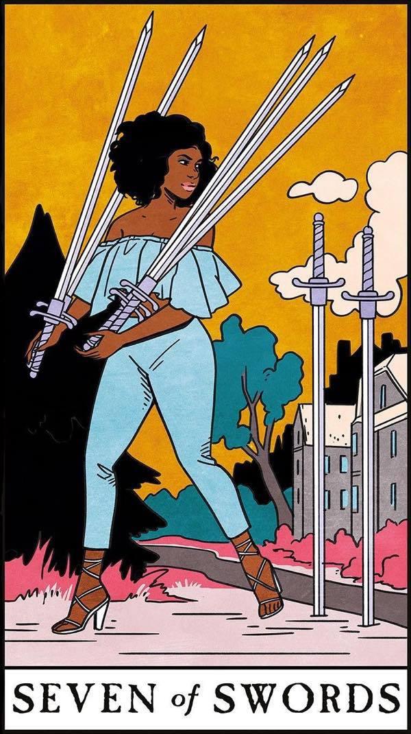 seven of swords love