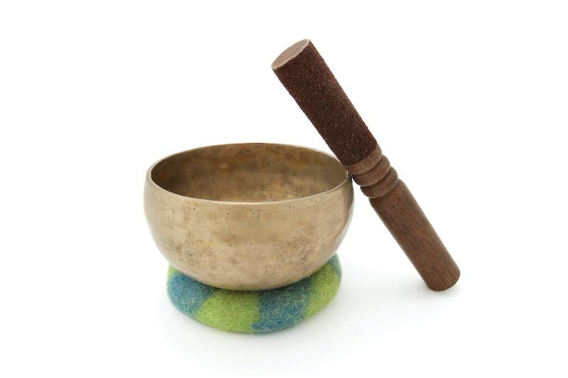 singing bowl with mallet