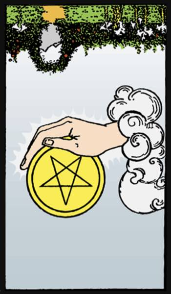 reversed ace of pentacles