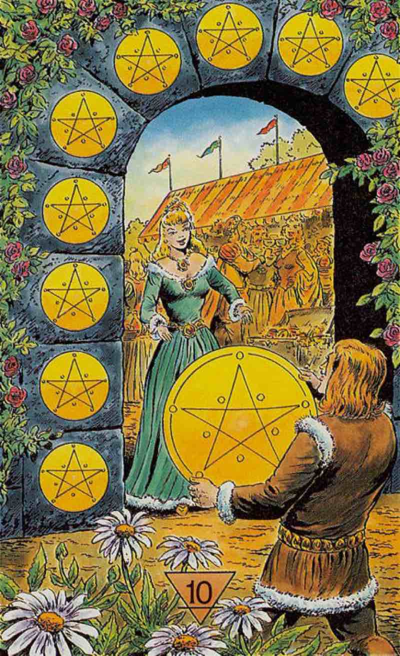 ten of pentacles love meaning