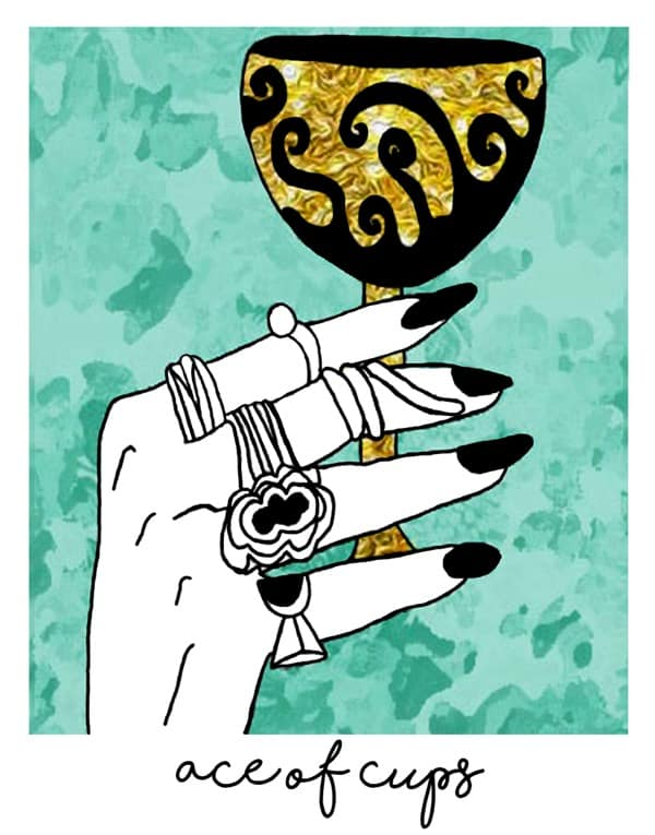 ace of cups a little spark of joy