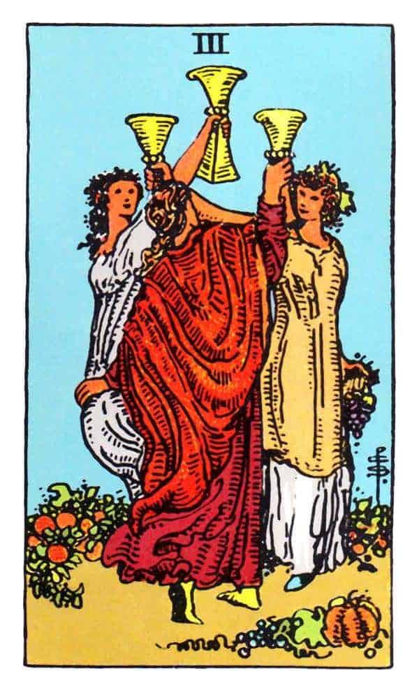 three of cups tarot card