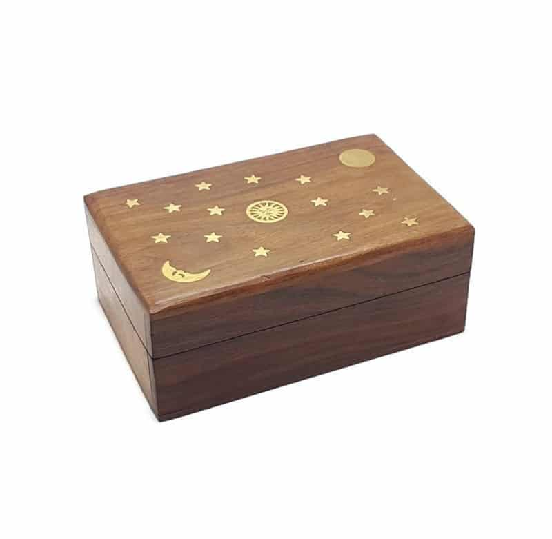 wooden tarot box caring tarot cards
