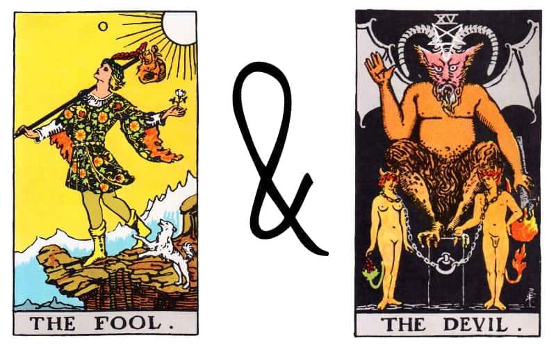 fool and devil tarot card spread combination
