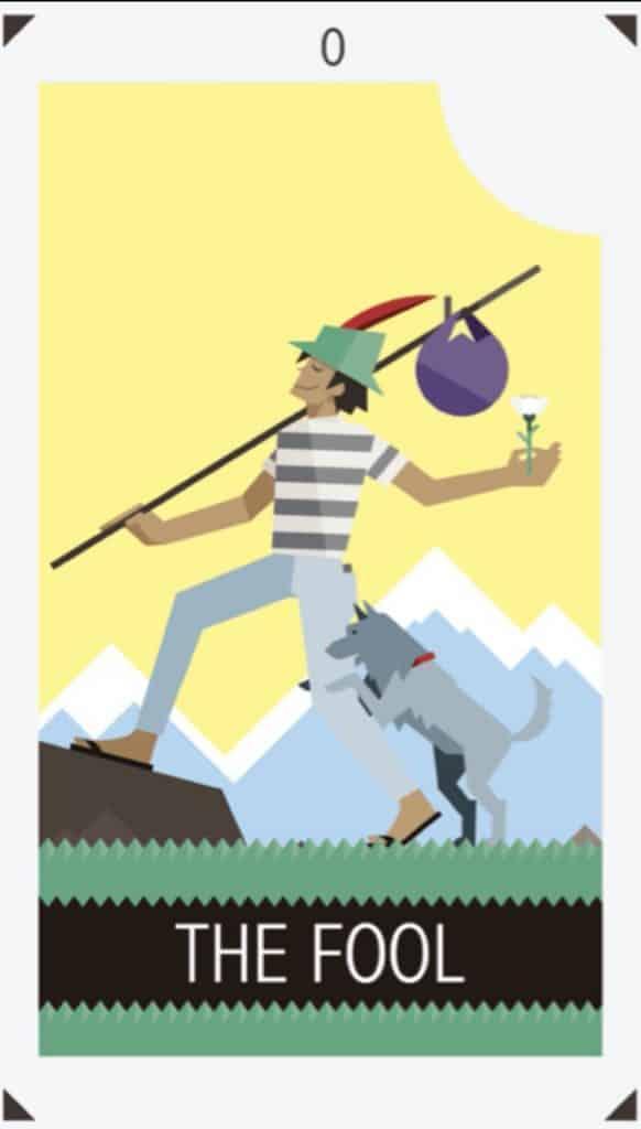 fool tarot card design