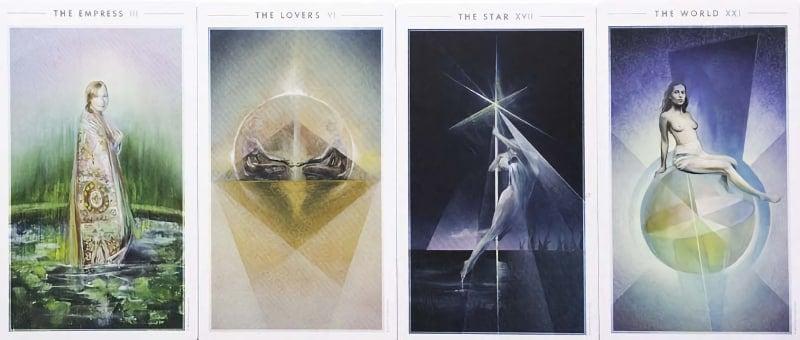 fountain tarot deck art cards
