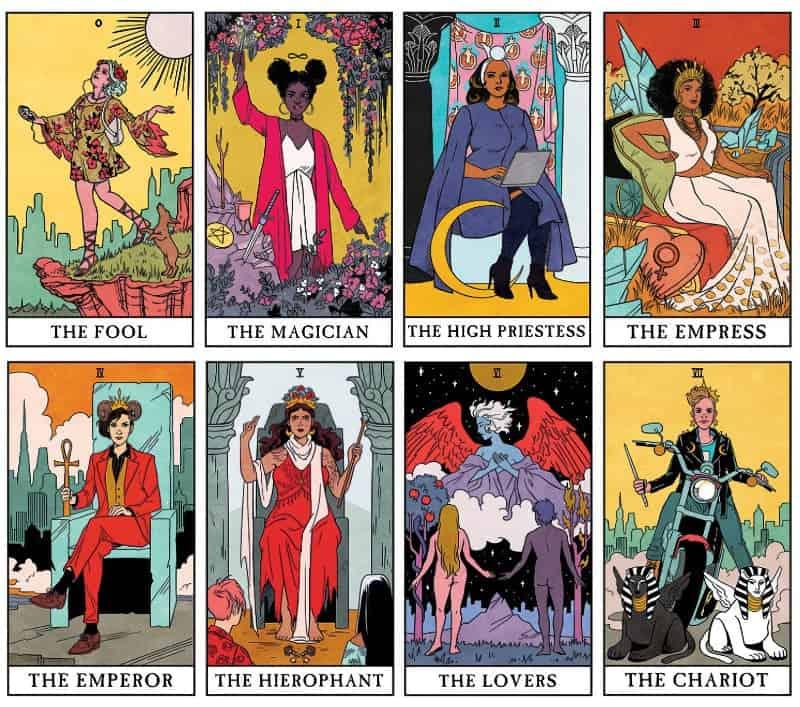 modern witch tarot card examples