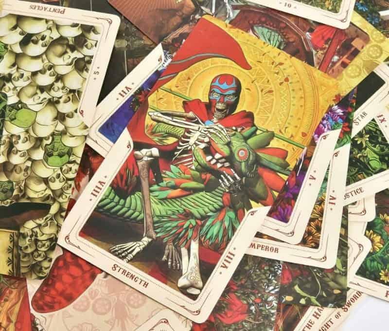 santa muerte tarot deck strength card