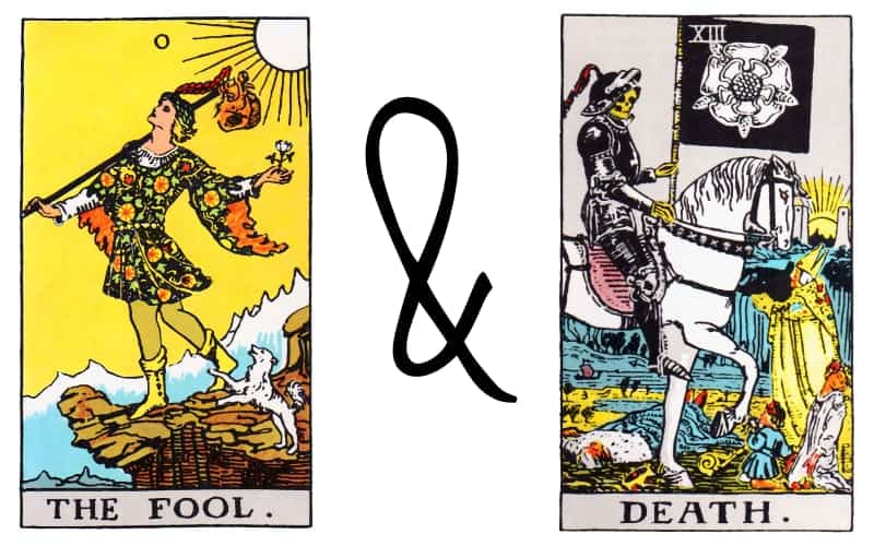 the fool and death tarot card combination
