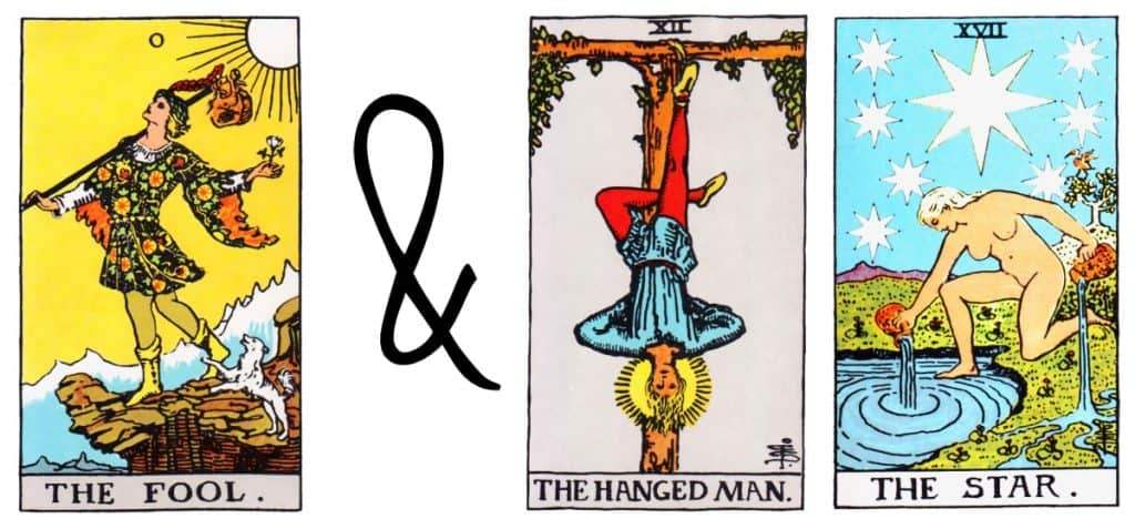 the fool and hanged man the star card combination