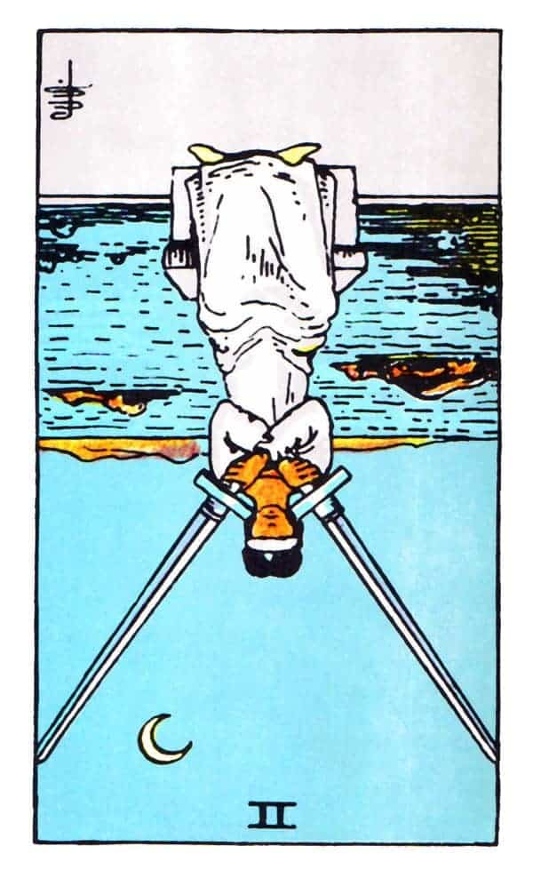 two of swords reversed
