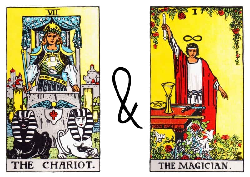 chariot the magician tarot card combination