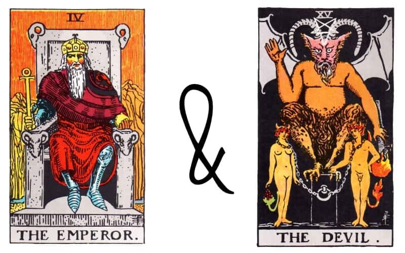 emperor and devil tarot card combination