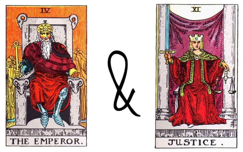 emperor and justice tarot card combination