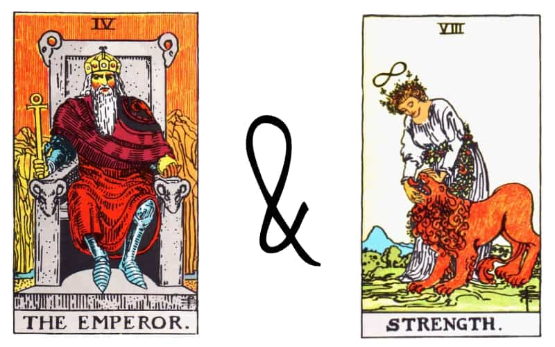 emperor and strenght tarot card combination