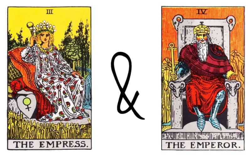 empress and emperor tarot card combination