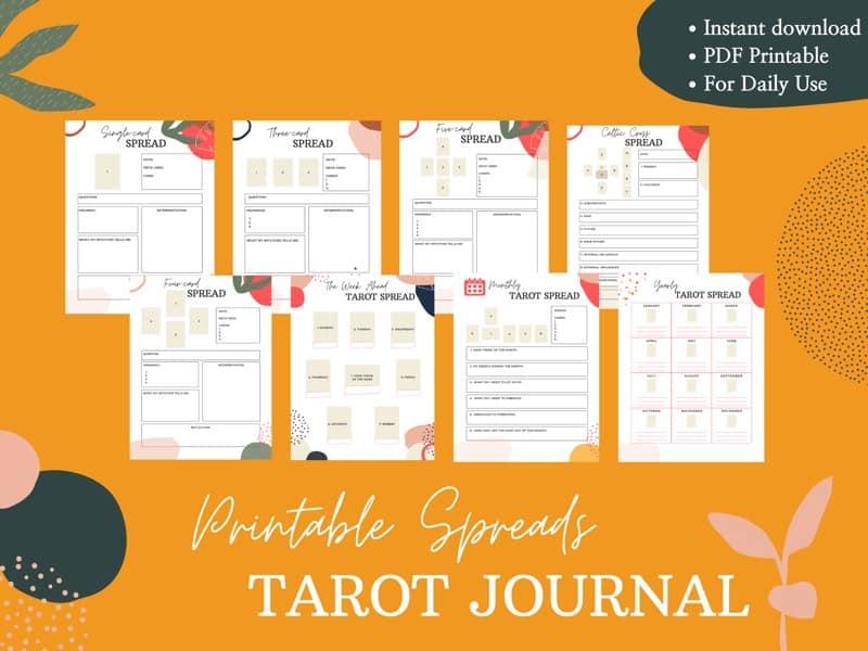 tarot journal spreads
