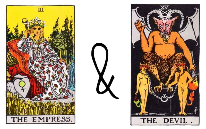 the empress and devil tarot card combination