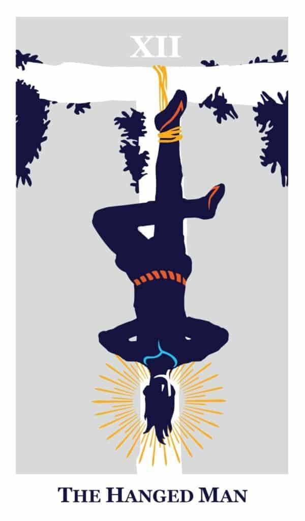 the hanged man modern way tarot deck card