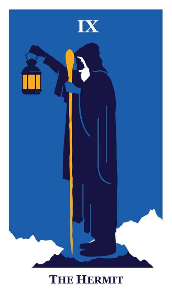 the hermit modern way tarot deck card