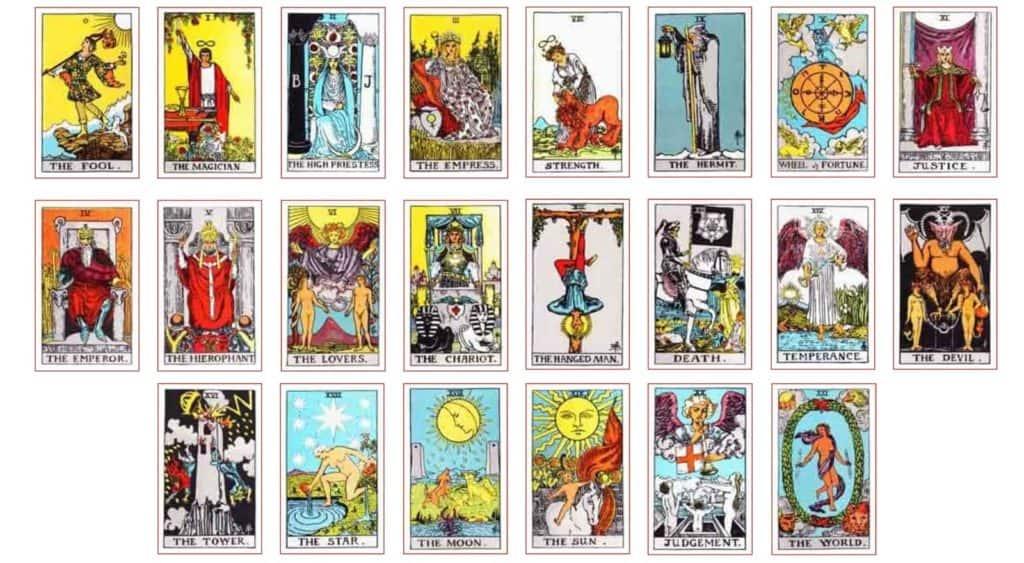 all tarot cards listed