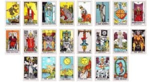 all tarot cards listed