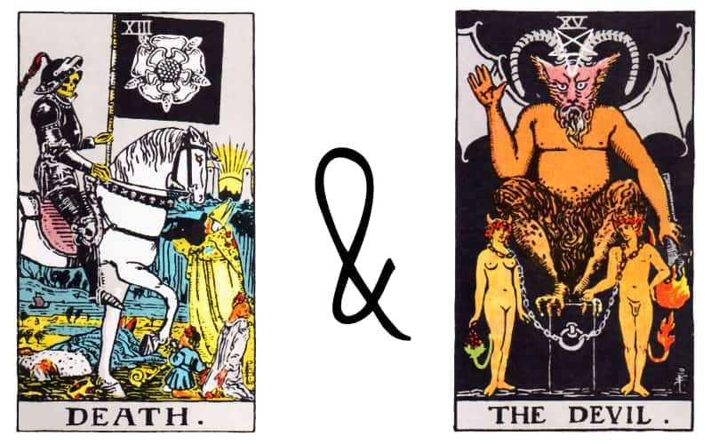 death and devil tarot card combination