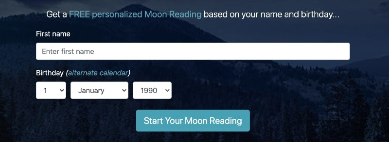 free moon reading online